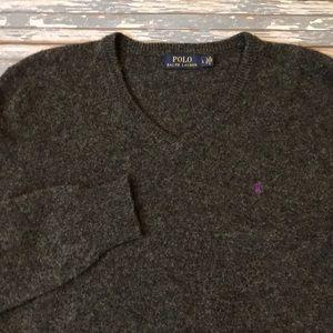 🔥 Polo by Ralph Lauren men's L lambswool sweater
